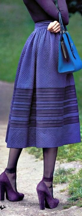 Mavi, mor, lacivert, uzun etek, long skirt