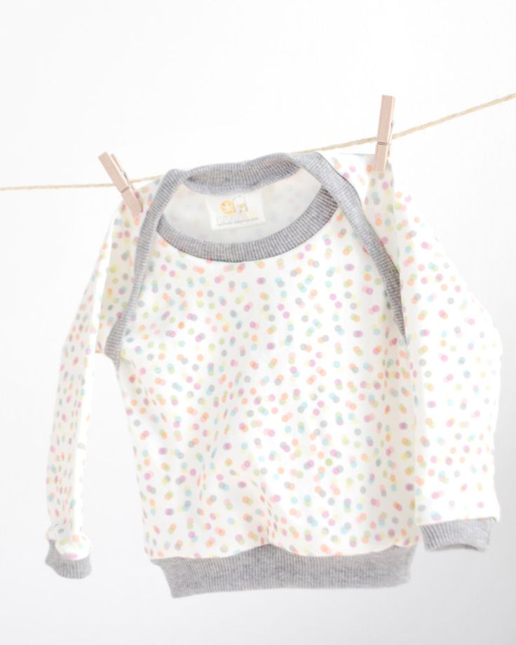 Organic cotton confetti sweater by Kupukupukids (Spain) or lovely clothes for kids...