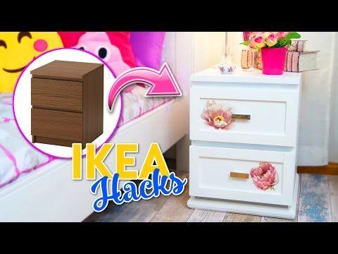 TUTORIAL-----(922) IKEA HACKS - TRANSFORMACION DE COMODA MALM IKEA - ROOM DECOR IDEAS DECORA TU CUARTO CON POCO DINERO - YouTube