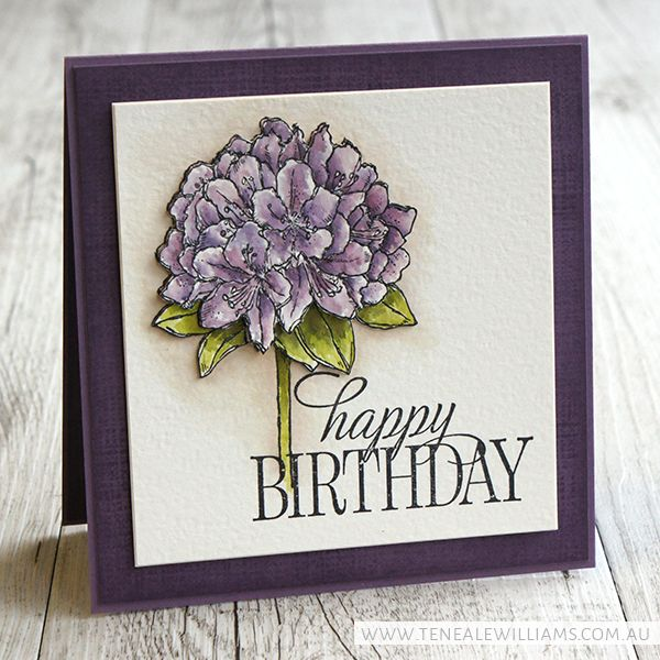 By Teneale Williams | Stampin' Up! Stamp Sets: Awesomely Artistic,  Happy Birthday Everyone and Best Thoughts