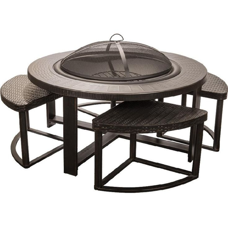 Wooden Fireplace Stools ~ Alpine flame inch cast aluminum outdoor wood burning