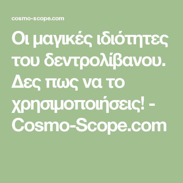 Οι μαγικές ιδιότητες του δεντρολίβανου. Δες πως να το χρησιμοποιήσεις! - Cosmo-Scope.com