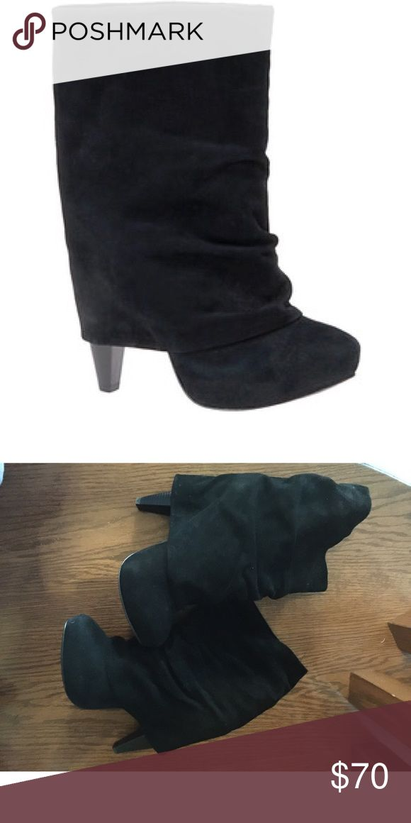 Aldo Boots Shoes Aldo Boot Black Suede size 37. worn once like new #aldo #boots #suede #heels #shoes #booties Shoes Heeled Boots