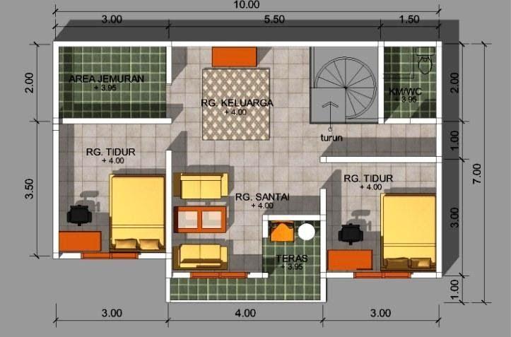 Inspirasi Denah Rumah Minimalis Ukuran 6x8 2 Kamar Oleh Ide Rekomendasi Denah Rumah Minimalis Ukuran 6x8 2 Denah Rumah Rumah Minimalis Desain Rumah Minimalis