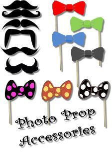 Free Printable Photobooth Props - Mustache Lips Bow Ties