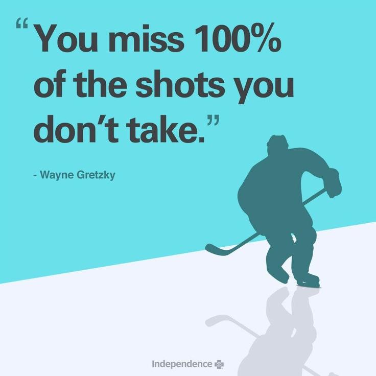 Don't be afraid to take chances!