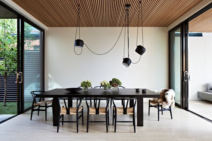 AIM by the Bourullec brothers from #FLOS is designed to make use of the cords that are normally hidden, a part of the fixture.  You can hang it, dangle it, loop it, etc. to create and arrange as you please. (http://www.contemporist.com/2014/04/18/oban-house-by-agushi/os_180414_22/)