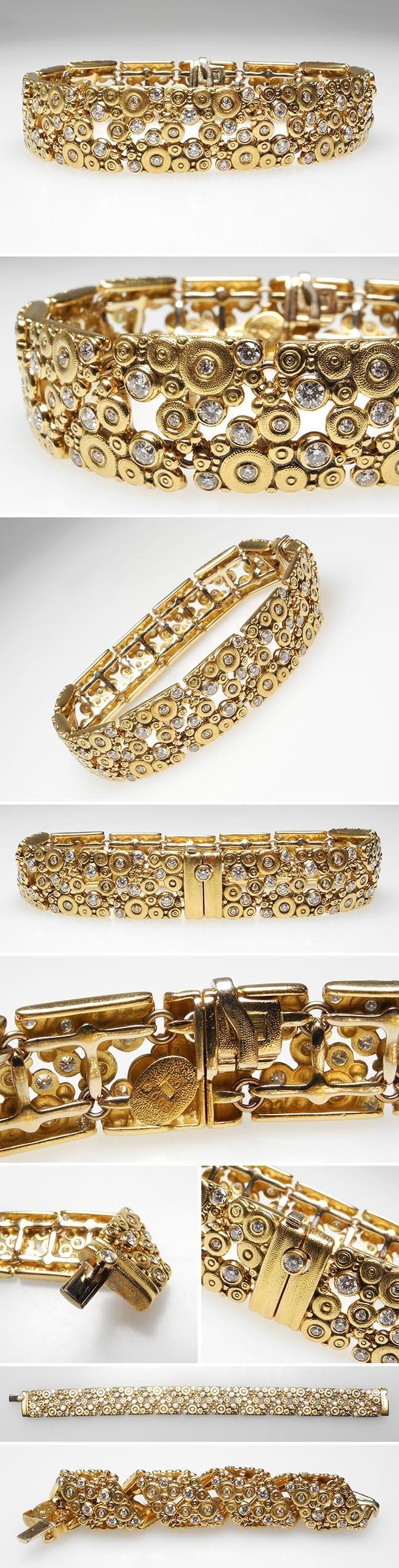 18k yellow gold bracelet by Alex Sepkus