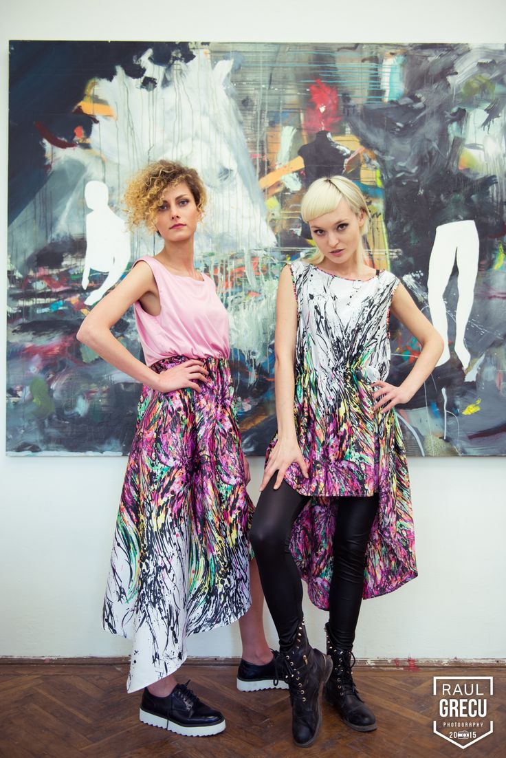 www.facebook.com/hihirifashion #dress #paintprint #paintfashion #painting #art #splash #colourful #fun #funky #young #girls #fashion #style #streetstyle #outfit #spring #summer #