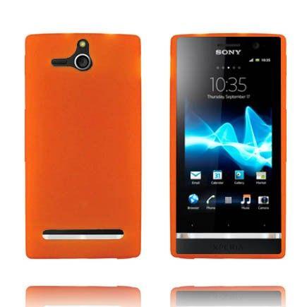 Soft Shell - Matta Pintainena Läpikuultava (Oranssi) Sony Xperia U Silikonisuojus