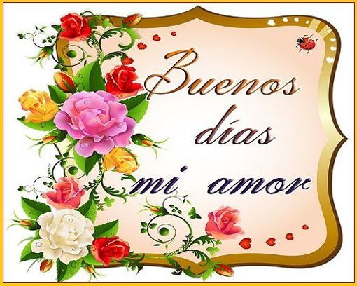 Buenos Dias Mensajes De Amor: Las Imagenes De Buenos Días Amor De Mi Vida Son Muy