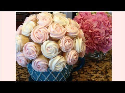 Vanilla Cupcakes with DIY Cupcake Bouquet | Simply Bakings - YouTube