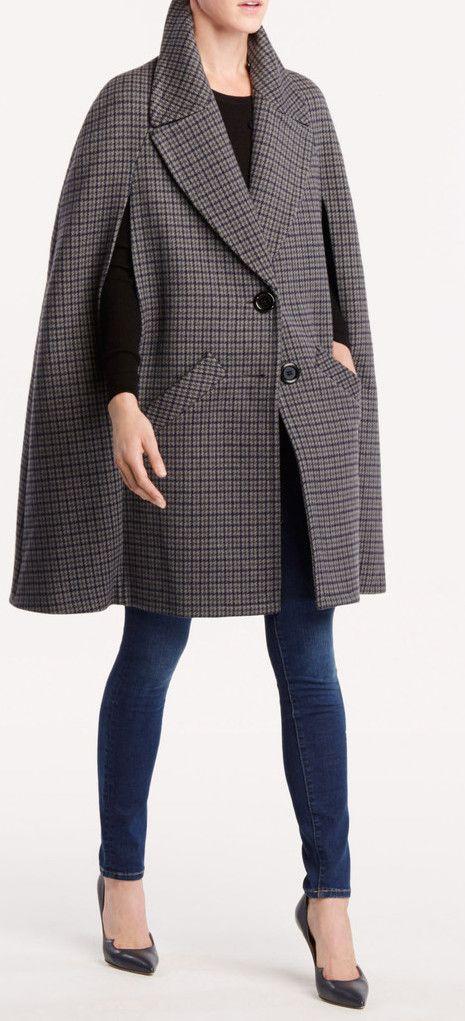 Michael Kors Collection Cape Coat in Grey