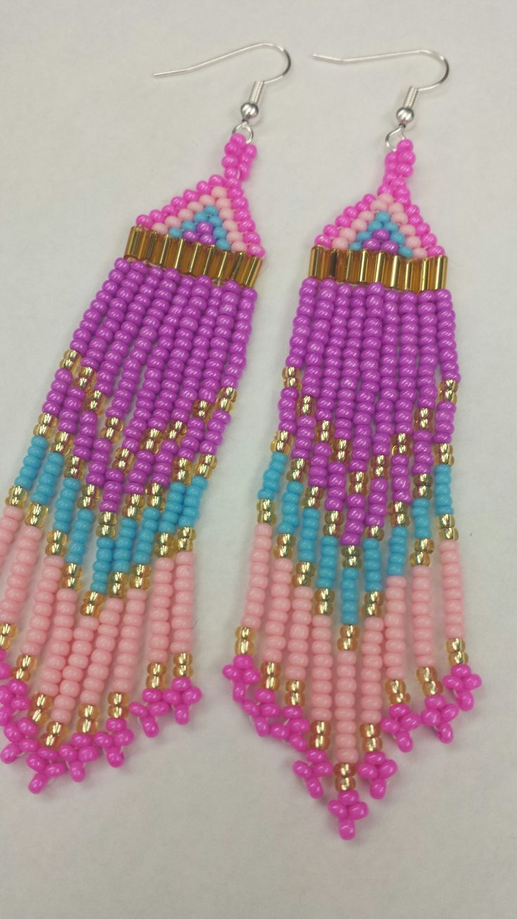 Handmade Native American Beaded Earrings   http://www.etsy.com/ca/shop/creeproductions?ref=seller_info