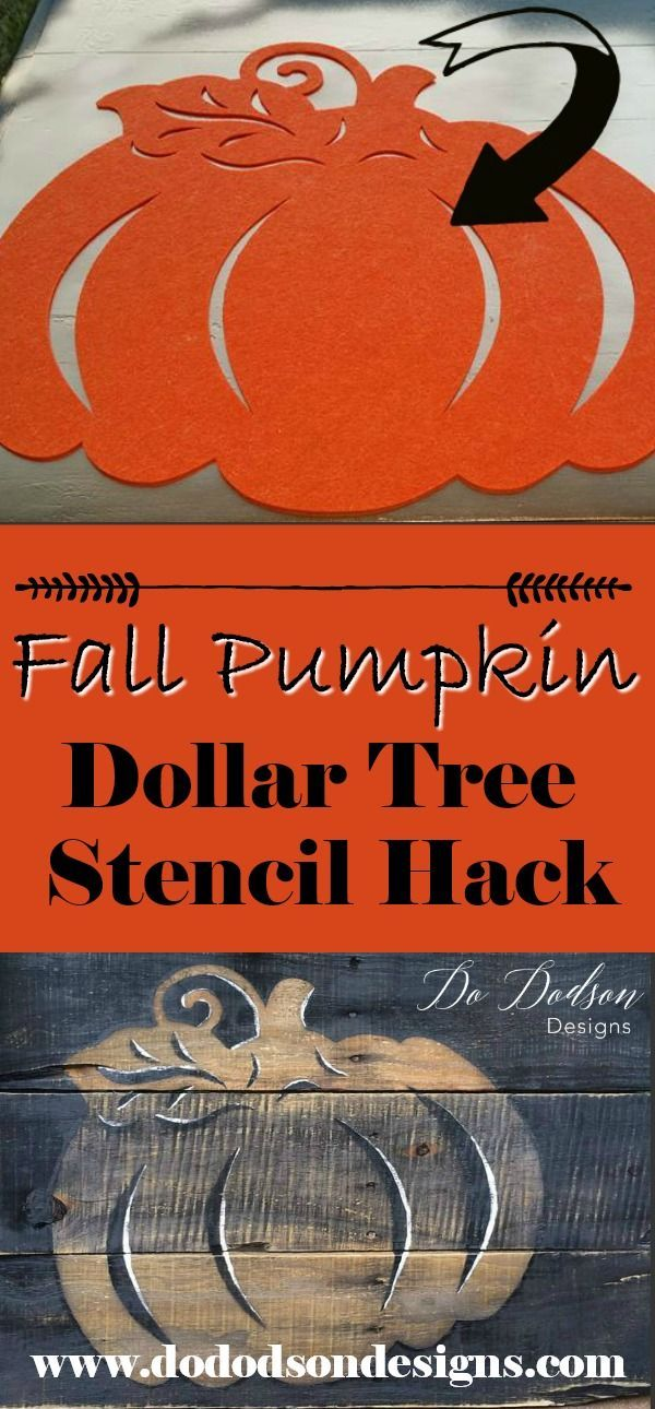 Easy DIY Pumpkin Decor using Dollar Tree decor. www.dododsondesig......