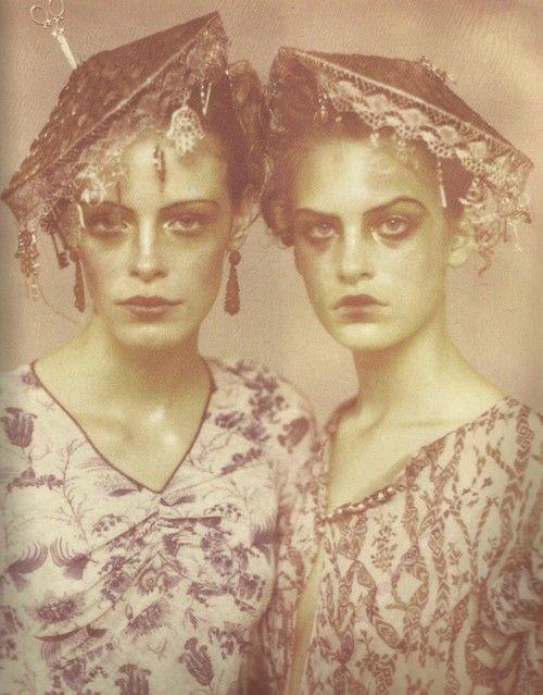 Jenny Knight & Tanga Moreau John Galliano S/S 1997 ph:Paolo Roversi
