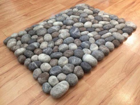 石 カーペット 石畳 フェルト ウール Esty
