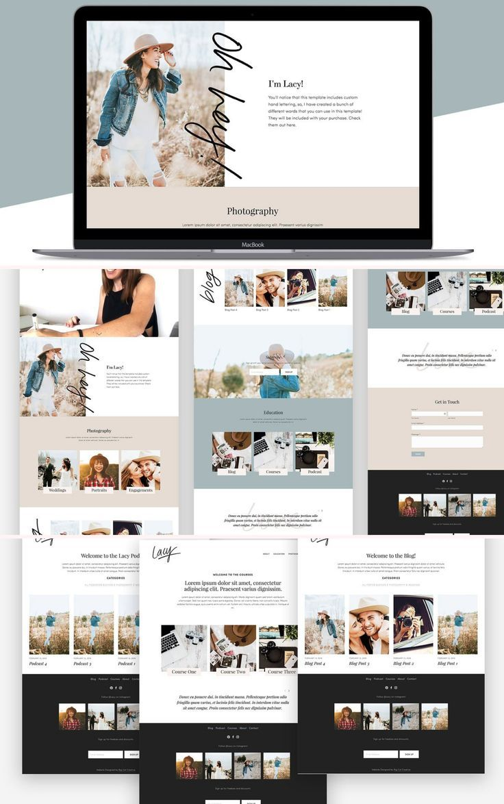 Squarespace Template Lacy Photography Website Design Squarespace Website Design Squarespace Templates