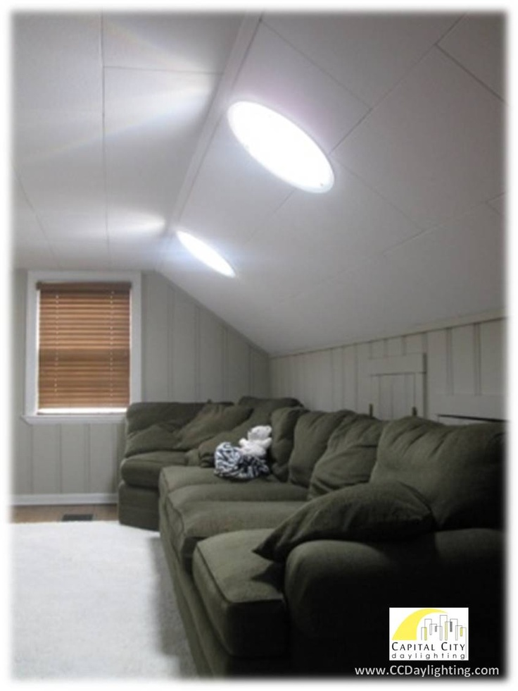 Example Of A Living Room With Solatube Daylighting Systems Installed Improve Any Interior