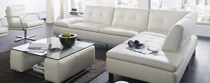 Modern Style Minimalist White Schillig Sofa Design Ideas Among Neutral Living Room Interior Decoration