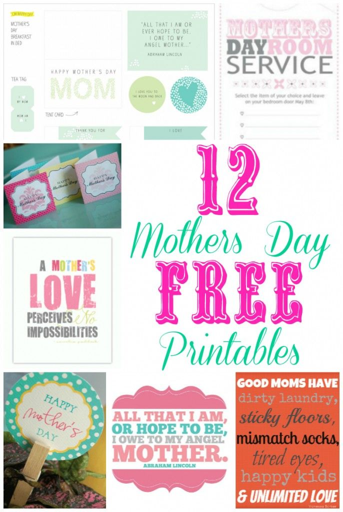 Mother's Day Printables - Our Thrifty Ideas