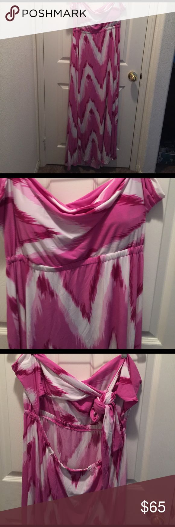 MAXI DRESS HALTER BACK OUT TIES TO GO A FEW WAYS VERY CUTE SEXY DRESS FROM THE (DASH by KARDASHIAN CLOTHING LINE FROM THE Q) Kardashian Kollection Dresses Maxi