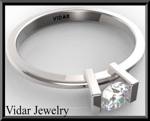 #vidarjewelryArtfire on Artfire                     #ring                     #Stunning #Diamond #Solitaire #White #Gold #Engagement #Ring                  Stunning Diamond Solitaire 14k White Gold Engagement Ring                                               http://www.seapai.com/product.aspx?PID=199433