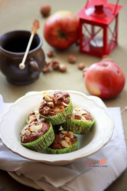 muffiny razowe z jabłkami i cynamonem