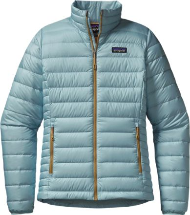 Patagonia women's Down Sweater Jacket delivers ultralight, compressible, windproof warmth for your cold-weather outdoor fun while everyone else is languishing at the gym or huddled by the fireplace.