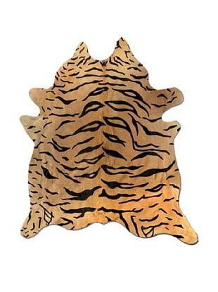Natural Brand Togo Cowhide Rug, Tiger, 7' x 5' 5