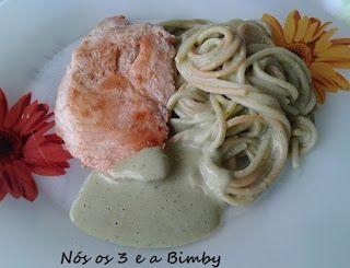 Nós os 3 e a Bimby: Esparguete Shrek com Bifes de Frango