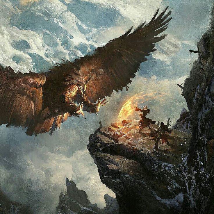 Giant bird attack
