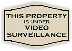 Amazon.com: This Property is under video surveillance Sign (4 x 6 , Almond with Black ): Home & Kitchen