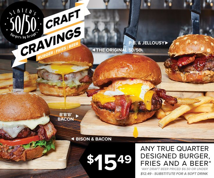 Slater's 50/50 - Burgers by Design