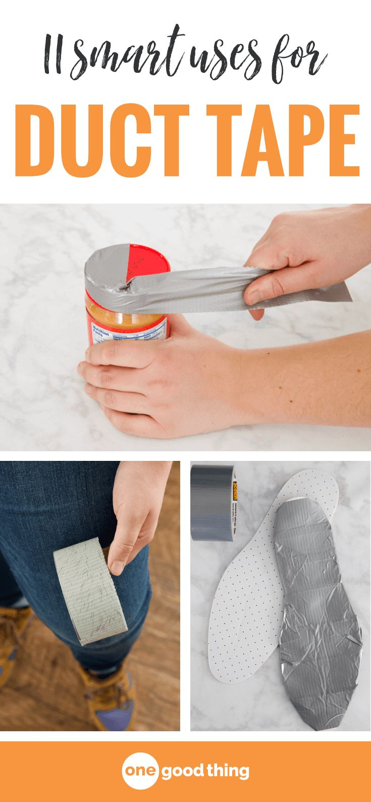 Check out this list of 11 practical ways to use duct tape in your everyday life. This strong and flexible tape can solve all kinds of problems! #ducttape #tipsandtricks #lifehacks