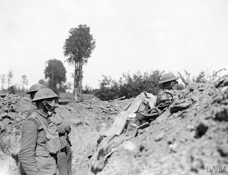 A Front Line trench occupied by the Royal Scots during the German Spring Offensive, 25 June, 1918, near Meteren.