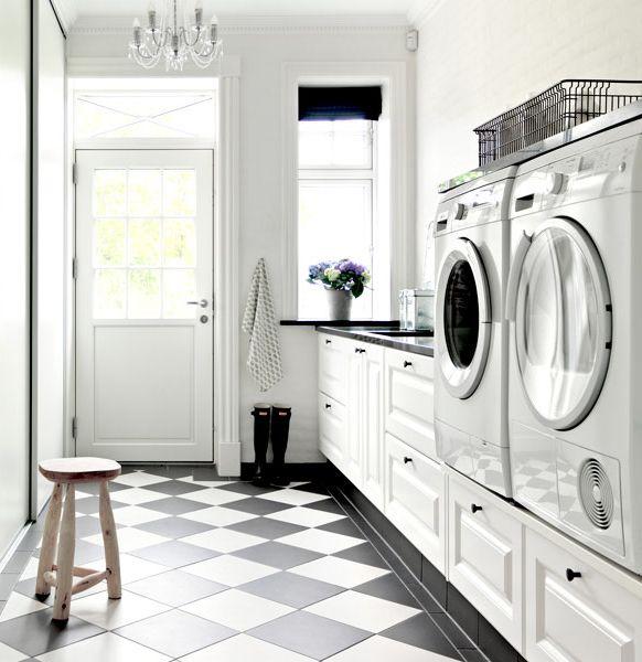Tvättmaskin högre upp