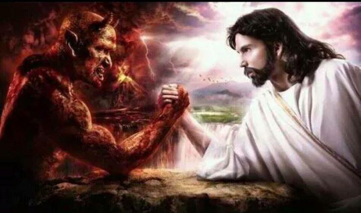 "Totally defeated!  He said to them, ""I saw Satan fall like lightning from heaven.  Luke 10:18 NKJV"