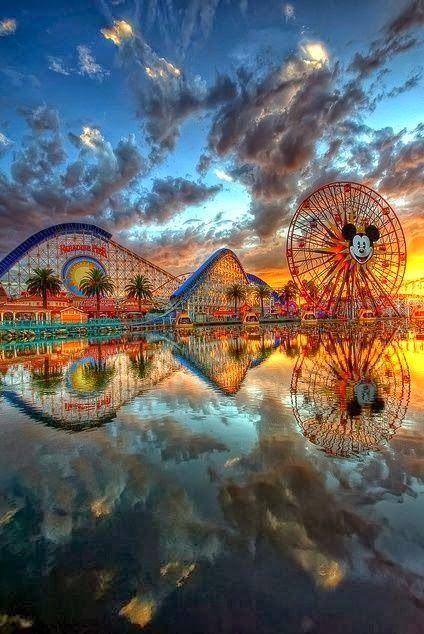 Disneyland Sunset ~ Anaheim, California