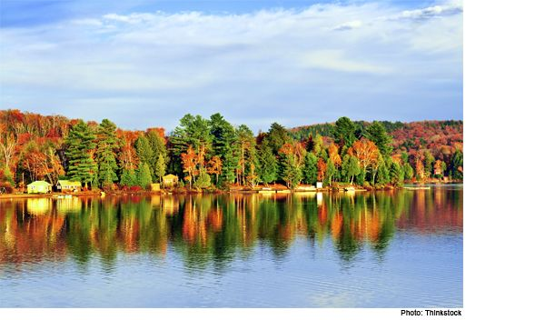 6 must go places in Ontario to enjoy the fall coloursAt about 3 hours drive from Toronto or Ottawa, Algonquin Park can be a day trip, but is probably better enjoyed as a weekend trip. Algonquin Park is an incredible display of nature - forests, rivers and lakes can be accessed via foot or canoe. There are also fall biking trails available.  .