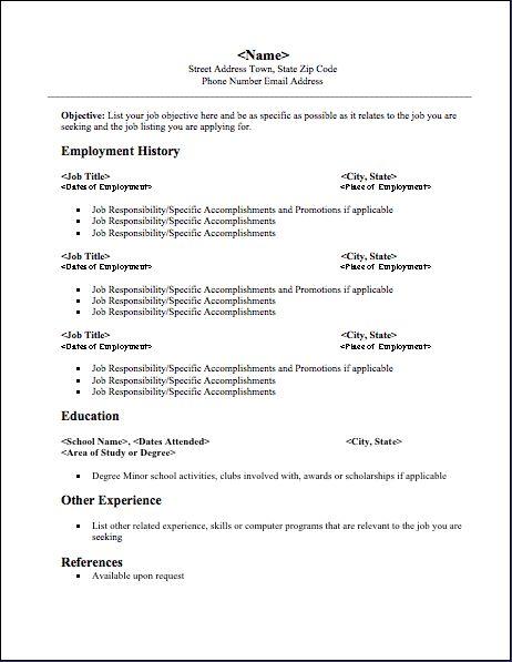 Chronological resume help