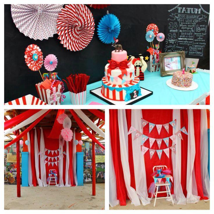 Tatum's First Birthday #firstbirthday #circus #party #circusbirthday