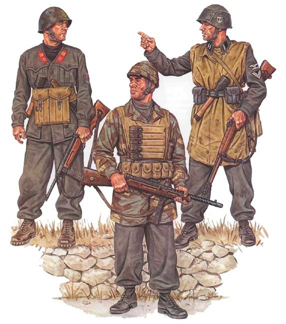 Italian paratroopers, WWII