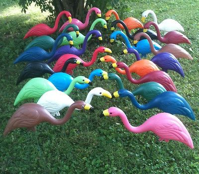 Plastic Yard Flamingos Pairs -You Pick the Colors