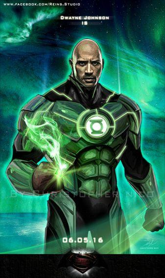 Green Lantern by Christopher Matthew Nico Wang #JohnStewart #DwayneJohnson #TheRock