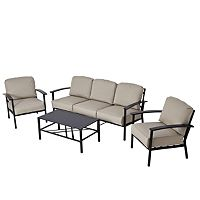 Wyndham Sofa Set With 3 Seat Sofa - Cream   Garden Furniture   ASDA direct