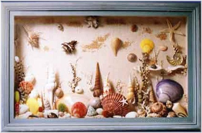 Seashell Shadow Box I Like The Layout Seashells
