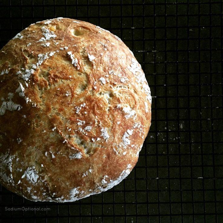 Low sodium crusty bread