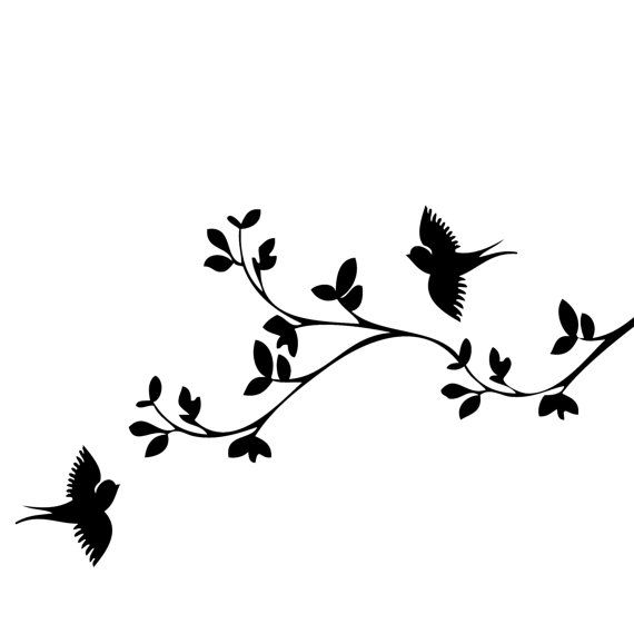 Flying Birds Paintmask  Stencil Wall Wood Sign by Jennastencils