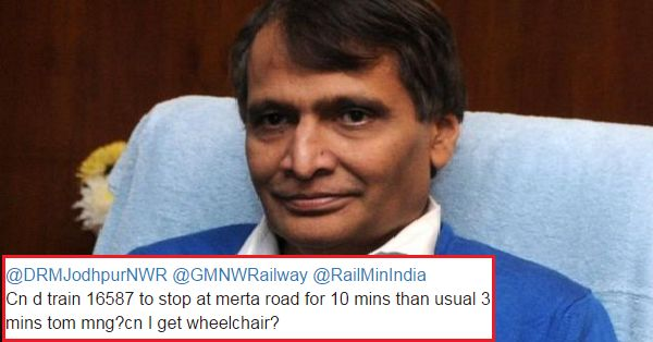 Suresh Prabhu Again Helped A Passenger & His Sick Father, Quickly Reacted To His Tweet